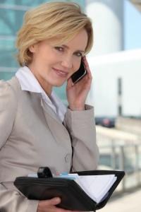 Female Executive on the Phone_11935078_s