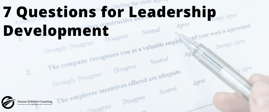 7 Questions for Leadership Development