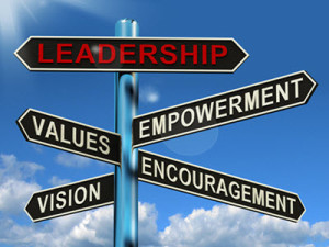 leadership-signpost-showing-vision-values-empowerment-and-encouragement3