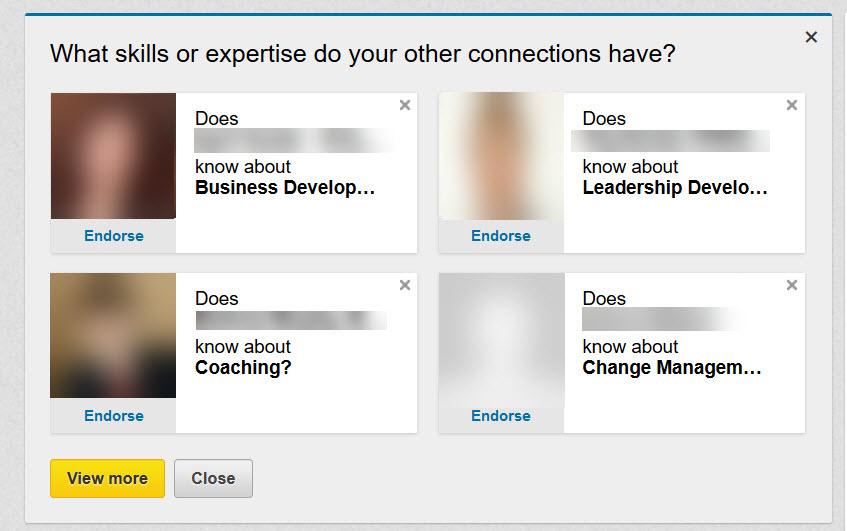 LinkedIn Endorsement