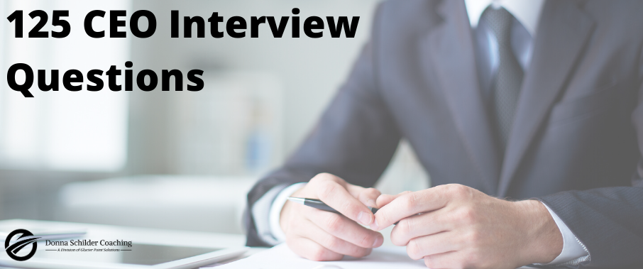125 CEO Interview Questions
