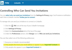 Controlling who can send you invitations