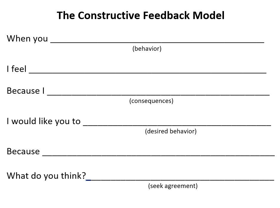 The Constructive Feedback Model