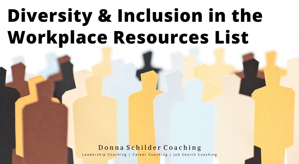 Diversity & Inclusion in the Workplace Resources List